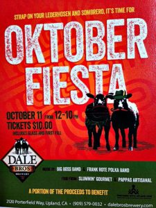 Dale Bros. is celebrating Oktoberfest with their Oktober Fiesta Beer and Fiesta on October 11th. Check it out.