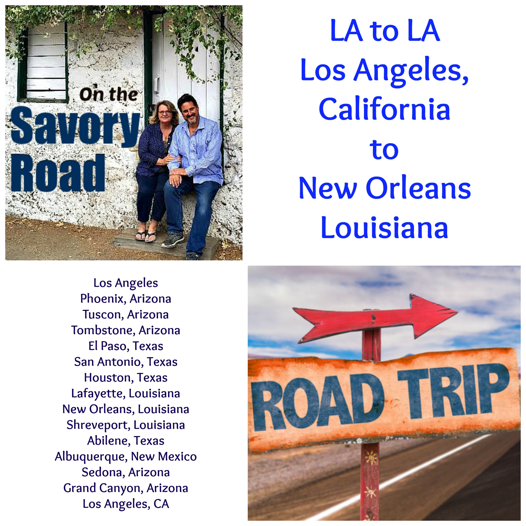 LA to LA Road Trip, starting 12/18/15, Los Angeles to New Orleans.
