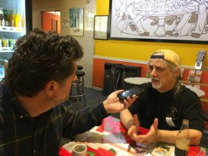 Jeff interviewing David J. Marinello, Proprietor of La DiVina Cafe and Gelateria. In the French Quarter in New Orleans