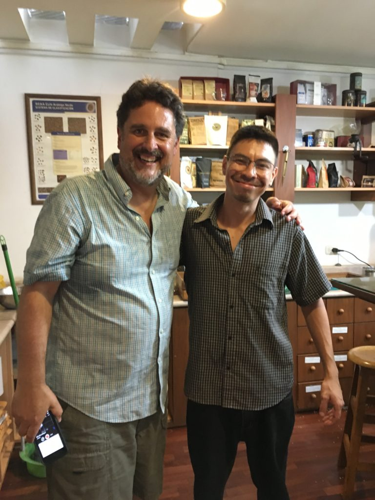 Jeff and Roberto Caldez, Barista of Cafe Bisette