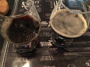 Beers on menu