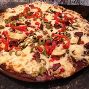 Blue Corn Crust Pizza