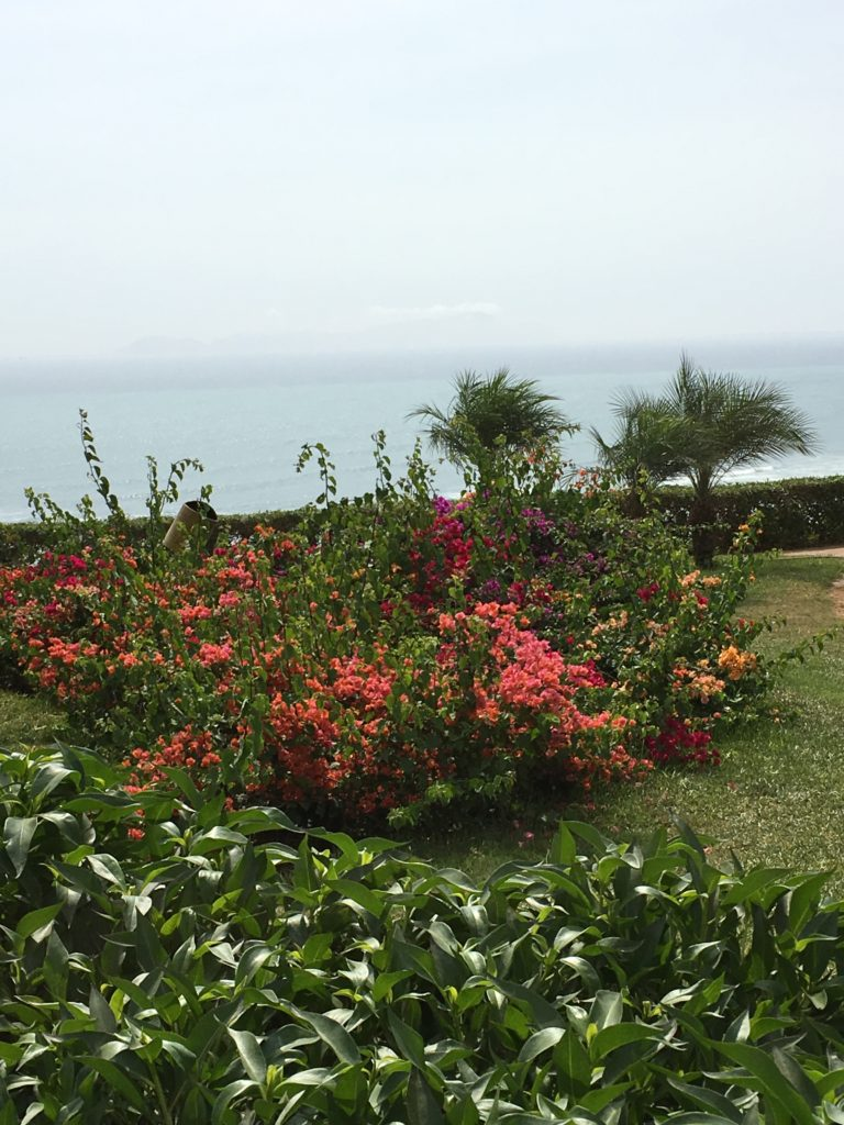 Barranco is bordered by the Pacific Ocean. A walking path for a romantic stroll