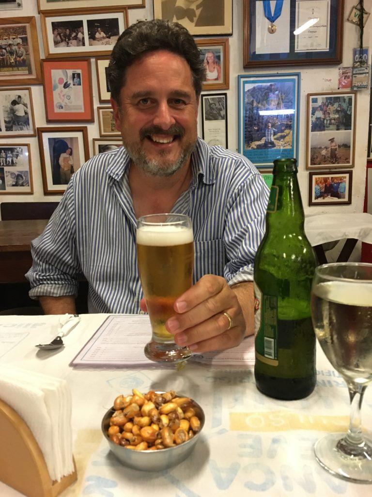 Jeff enjoying a Peruvian Beer at Cana Ranta, Lima