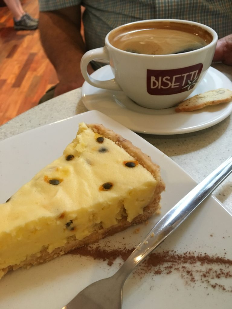 Coffee and Passion Fruit Pie at Cafe Bisetti,