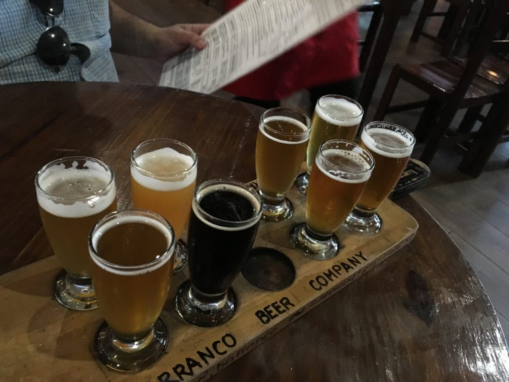 Beer Flight at the Barranco Beer Company. Savory Road Radio Feature LISTEN